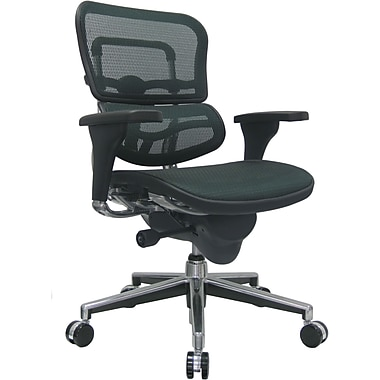 Raynor ME8ERGLO-GRN(N) Ergo human Mesh Mid-Back Executive Chair with Adjustable Arms, Green