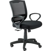 Eurotech Seating MT3000-BLK Maze Fabric Mid-Back Task Chair with Fixed Arms, Black