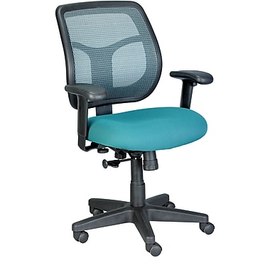 Eurotech Seating MT9400-GRN Apollo Fabric Mid-Back Task Chair with Adjustable Arms, Green