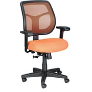 Eurotech Seating MT9400-ORANGE Apollo Fabric Mid-Back Task Chair with Adjustable Arms, Orange