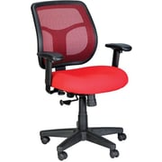 Eurotech Seating MT9400-RED Apollo Fabric Mid-Back Task Chair with Adjustable Arms, Red