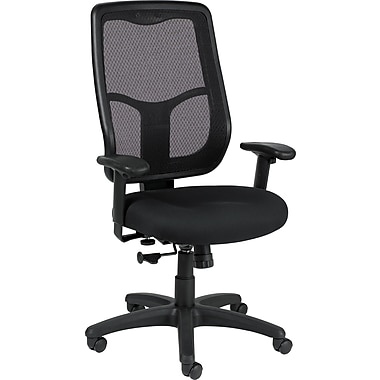 Raynor Eurotech Dakota 2 Vinyl/Mesh Guest Chair, Transport Pewter