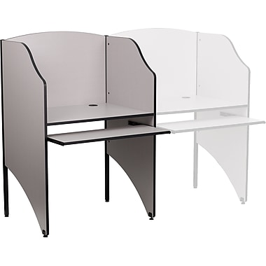 Flash Furniture Starter Study Carrel, Grey