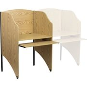 Flash Furniture Starter Study Carrel, Oak