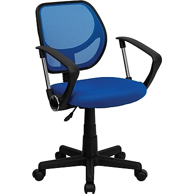 Flash Furniture Fabric Mid-Back Task Chair with Arm, Blue