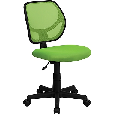 Flash Furniture WA-3074-GN-GG Mesh Mid-Back Armless Task Chair, Green
