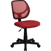 Flash Furniture WA-3074-RD-GG Mesh Mid-Back Armless Task Chair, Red