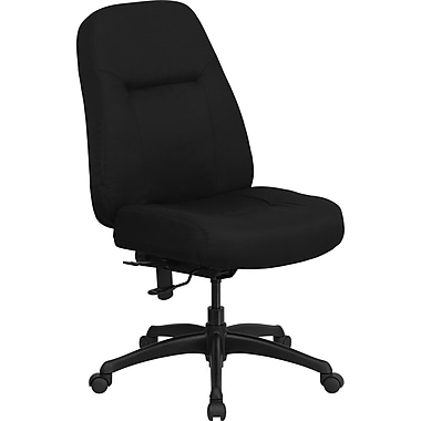 Flash Furniture HERCULES Series 400 lb. Capacity High Back Big & Tall Fabric Office Chair with Extra WIDE Seat, Black