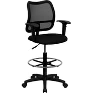 Flash Furniture Mid Back Mesh Drafting Stool with Arm