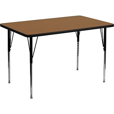 Flash Furniture 21 1/8'' - 30 1/8'' H x 30in. W x 48in. D 16 Gauge Tubular Steel Round Activity Tables