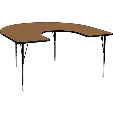 Flash Furniture 21 1/8in. - 30 1/8in. H x 60in. W x 66in. D 16 Gauge Tubular Steel Horseshoe Activity Tables