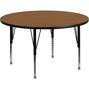 Flash Furniture 60'' Round Activity Table, Oak