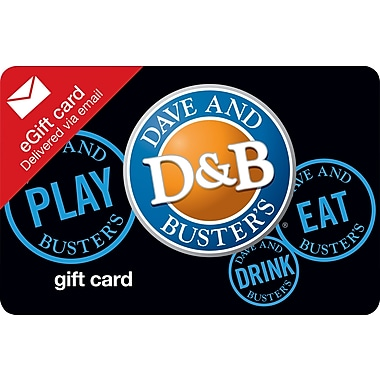 Dave & Busters Gift Card, $25 (Email Delivery)
