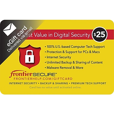 Frontier Secure Gift Card, $25 (Email Delivery)