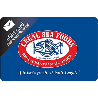 Legal Sea Foods Gift Card, $25 (Email Delivery)