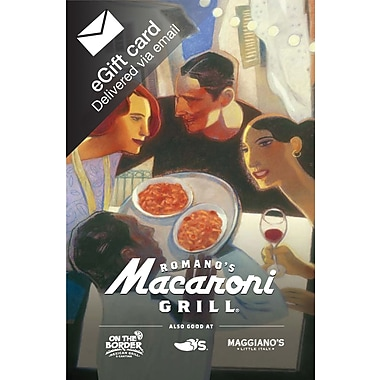 Macaroni Grill Gift Card, $50 (Email Delivery)