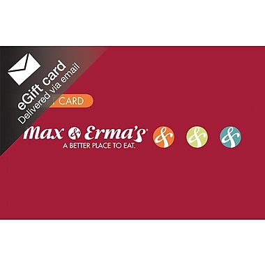 Max & Erma's  Gift Card, $100 (Email Delivery)