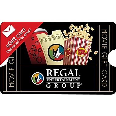 Regal Entertainment Gift Card, $50 (Email Delivery)