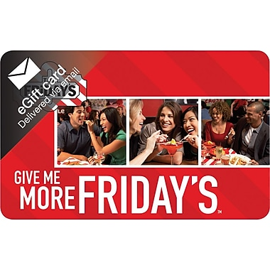 TGI Friday's Gift Card, $50 (Email Delivery)