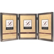 "Lawrence Frames 5"" x 7"" Metal Pewter Hinged Triple Picture Frame (11557T)"