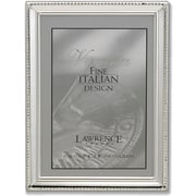 Polished Silver Plate 4x5 Picture Frame - Bead Border Design