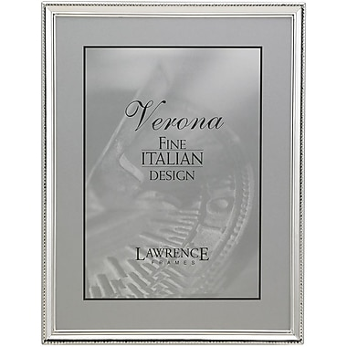 Polished Silver Plate 5x7 Picture Frame - Bead Border Design