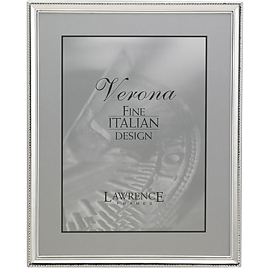 Polished Silver Plate 8x10 Picture Frame - Bead Border Design