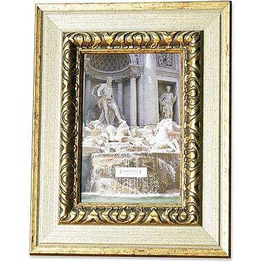 Carved Antique Silver And Gold 4x6 Picture Frame