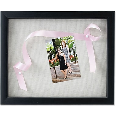 Lawrence Frames Black Shadow Box - Linen Display