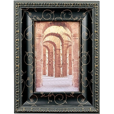 184146 Black with Bronze Etching 4x6 Picture Frame