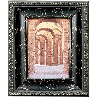 184180 Black with Bronze Etching 8x10 Picture Frame