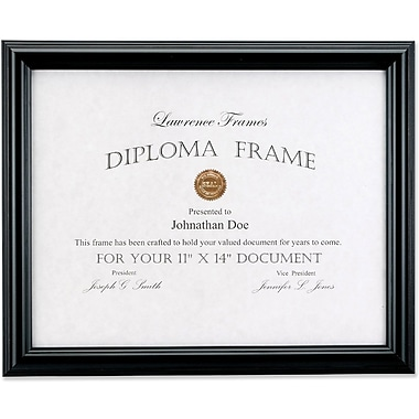 Lawrence Frames Domed Black Document Frame