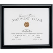 "Lawrence Frames Images Collection 8.5"" x 11"" Manufactured Black Wood Document Frame (185081)"