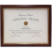 "Lawrence Frames Images Collection 11"" x 14"" Composite Wood Walnut/Gold Document Picture Frame (185111)"