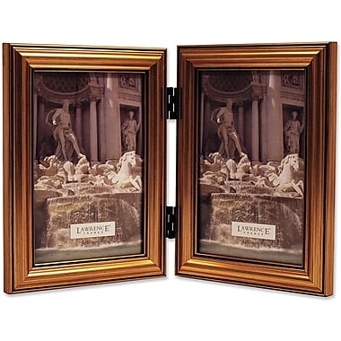 Lawrence Frames 4in. x 6in. Wooden Antique Gold Double Picture Frame (224G46D)
