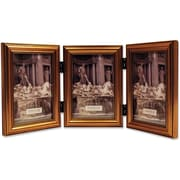 "Lawrence Frames 4"" x 6"" Wooden Antique Gold Triple Picture Frame (224G46T)"
