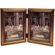 Lawrence Frames 5 x 7 Wooden Antique Gold Double Picture Frame (224G57D)