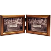 "Lawrence Frames 6"" x 4"" Wooden Antique Gold Double Picture Frame (224G64D)"