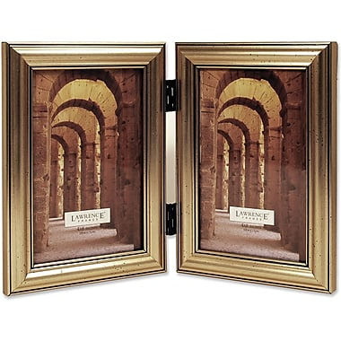 Antique Silver Wood Double 4x6 Picture Frame - Classic Design