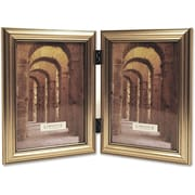Antique Silver Wood Double 5x7 Picture Frame - Classic Design