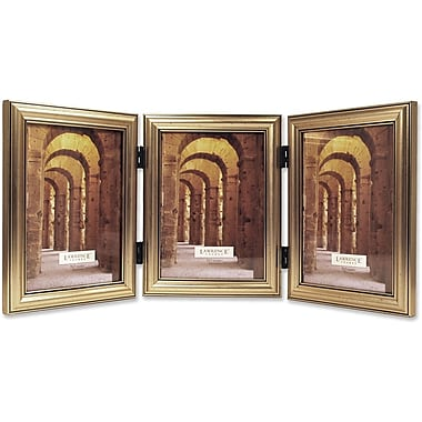 Antique Silver Wood Triple 4x6 Picture Frame - Classic Design