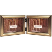 Antique Silver Wood Double 6x4 Picture Frame - Classic Design
