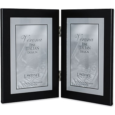 Black 4x6 Hinged Double Metal Picture Frame