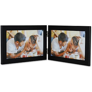 Black 6x4 Hinged Double Metal Picture Frame