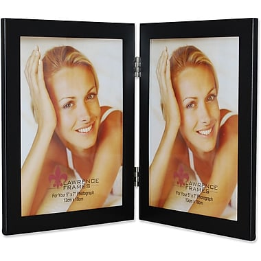 Black 5x7 Hinged Double Metal Picture Frame