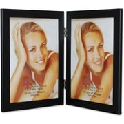 "Lawrence Frames 5"" x 7"" Metal Black Hinged Double Picture Frame (230052)"