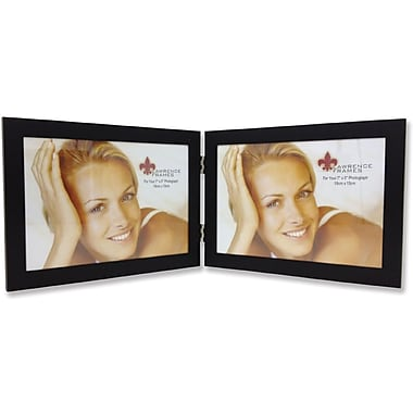 230075D Black Aluminum 7x5 Double Picture Frame