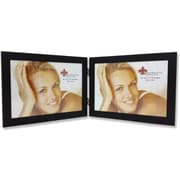 "Lawrence Frames 7"" x 5"" Metal Black Hinged Double Picture Frame (230075D)"