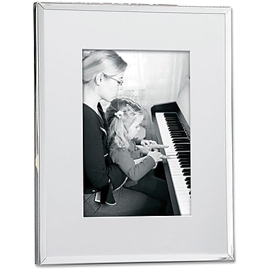 Silver Plated Matted 8x10 Picture Frame