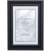 "Lawrence Frames Verona Collection 4"" x 6"" Metal Black Classic Rope Picture Frame (310046)"